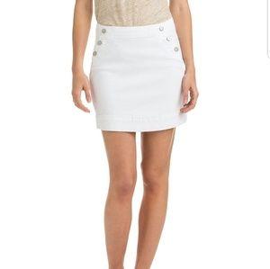 Vineyard Vines White Nautical Denim Mini Skirt